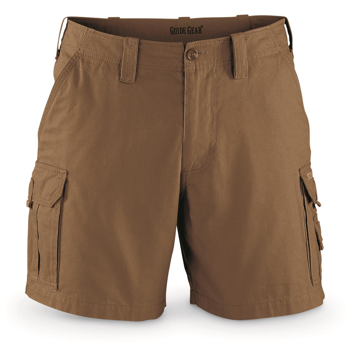 "Guide Gear Men's Outdoor Cargo Shorts, British Khaki, 6"" inseam"
