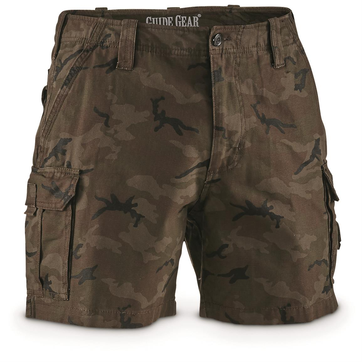 "Guide Gear Men's Outdoor Cargo Shorts, Camo, 6"" inseam"