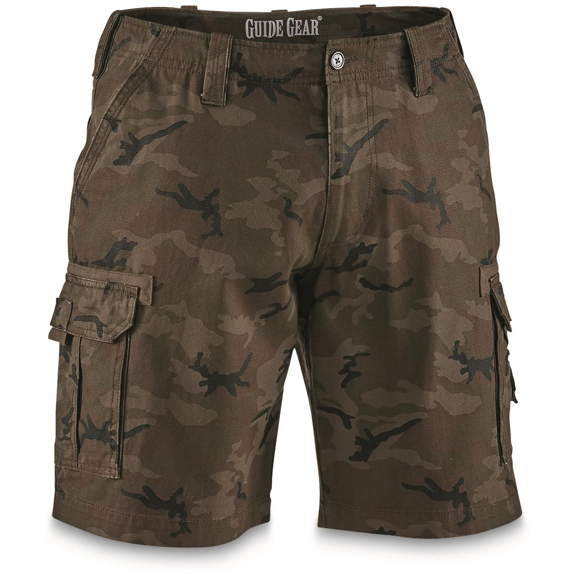 "Guide Gear Men's Outdoor Cargo Shorts, Camo, 10"" inseam"
