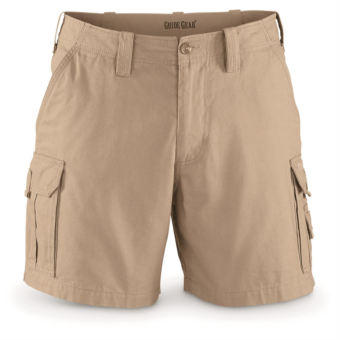 "Guide Gear Men's Outdoor Cargo Shorts, Khaki, 6"" inseam"