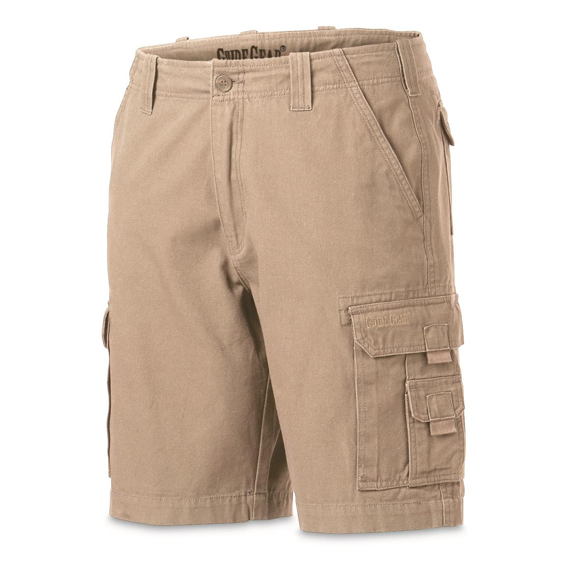 "Guide Gear Men's Outdoor Cargo Shorts, Khaki, 10"" inseam"