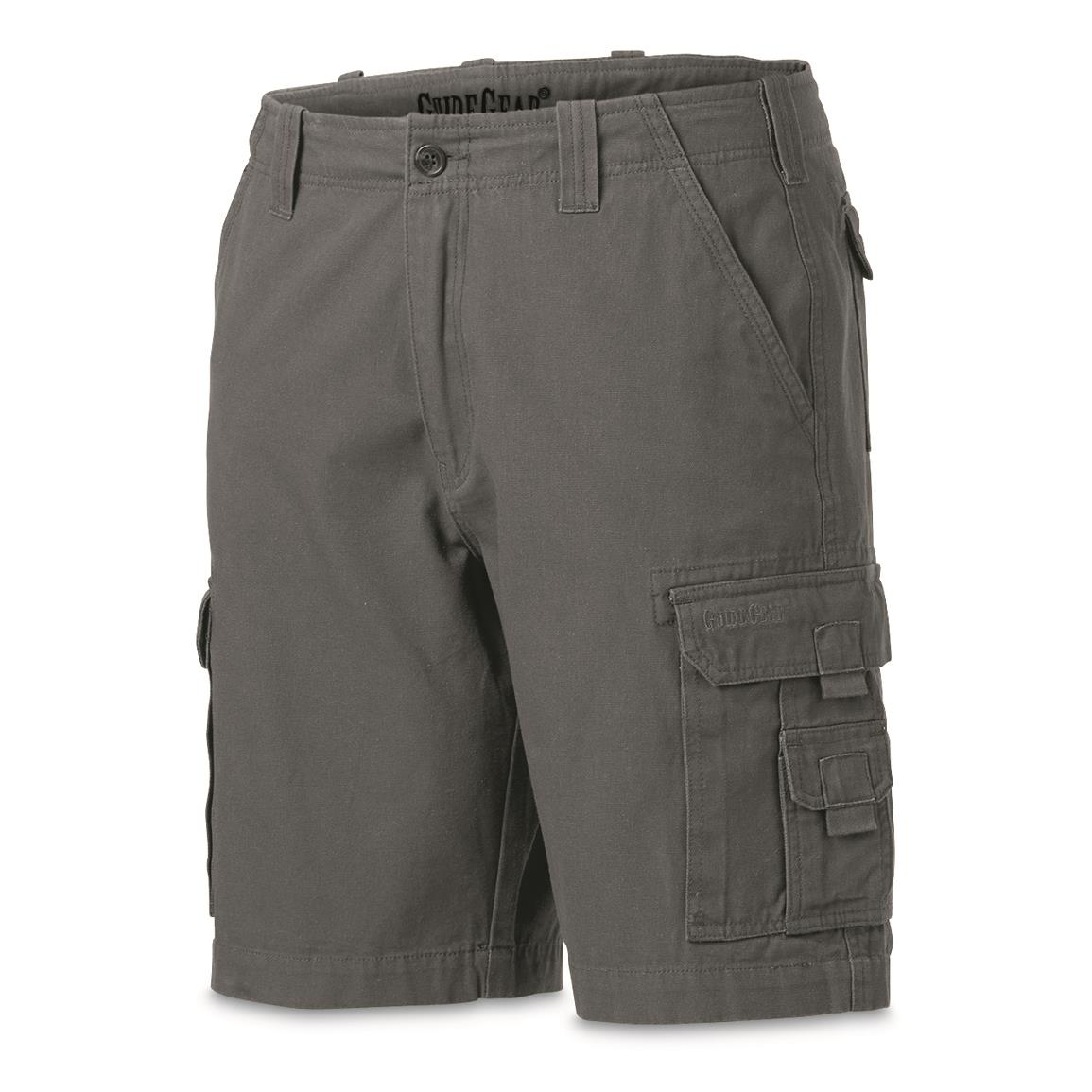 "Guide Gear Men's Outdoor Cargo Shorts, Gray, 10"" inseam"