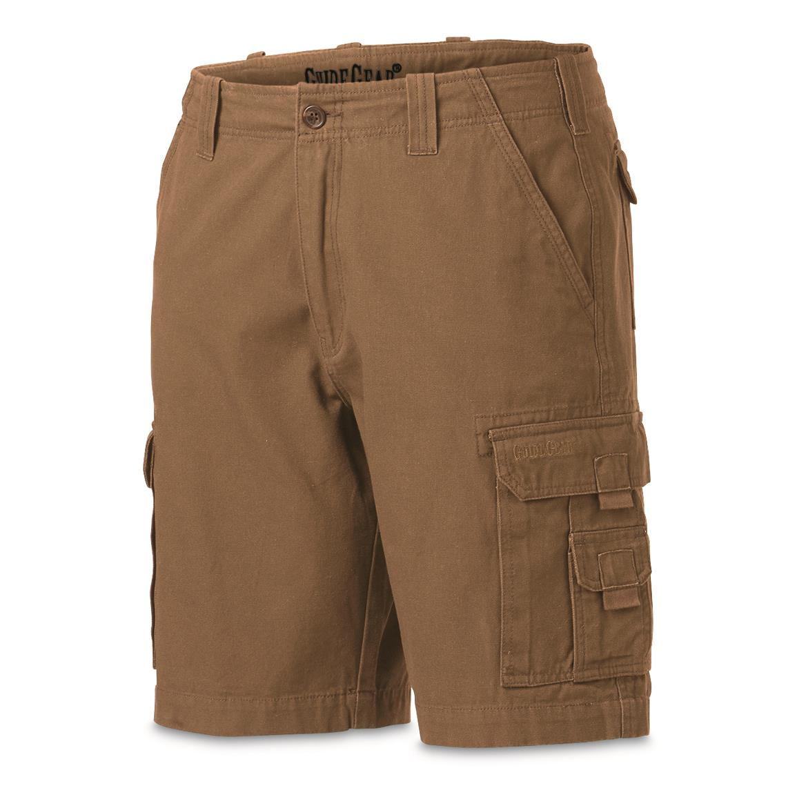 "Guide Gear Men's Outdoor Cargo Shorts, British Khaki, 10"" inseam"