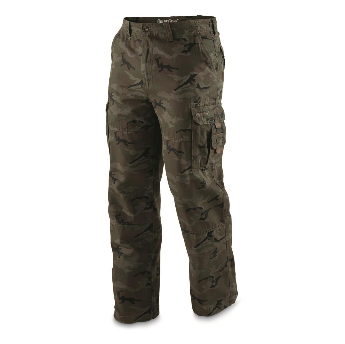 Guide Gear Men's Outdoor Cargo Pants, Woodland Camo
