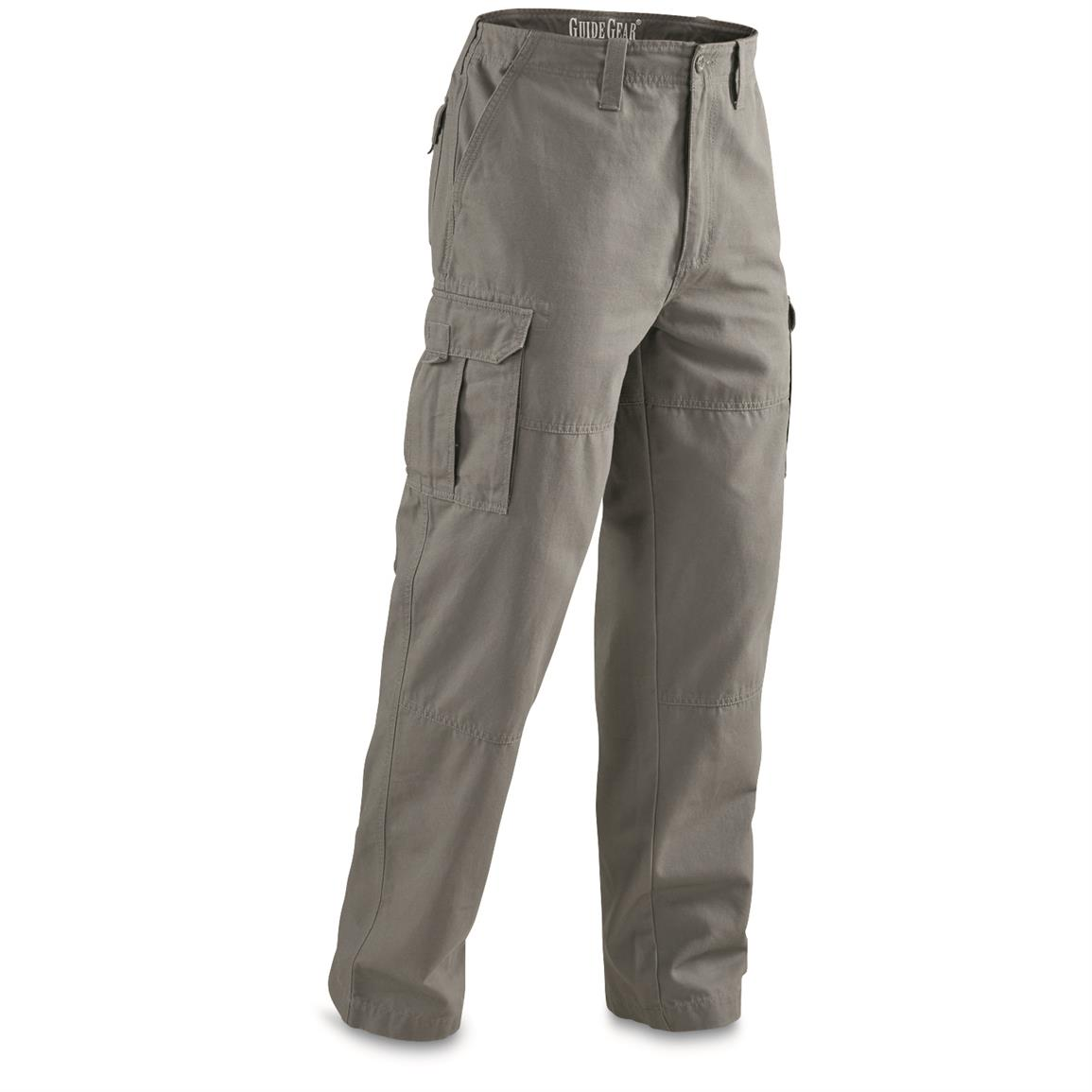 Guide Gear Men's Outdoor Cargo Pants, Gray