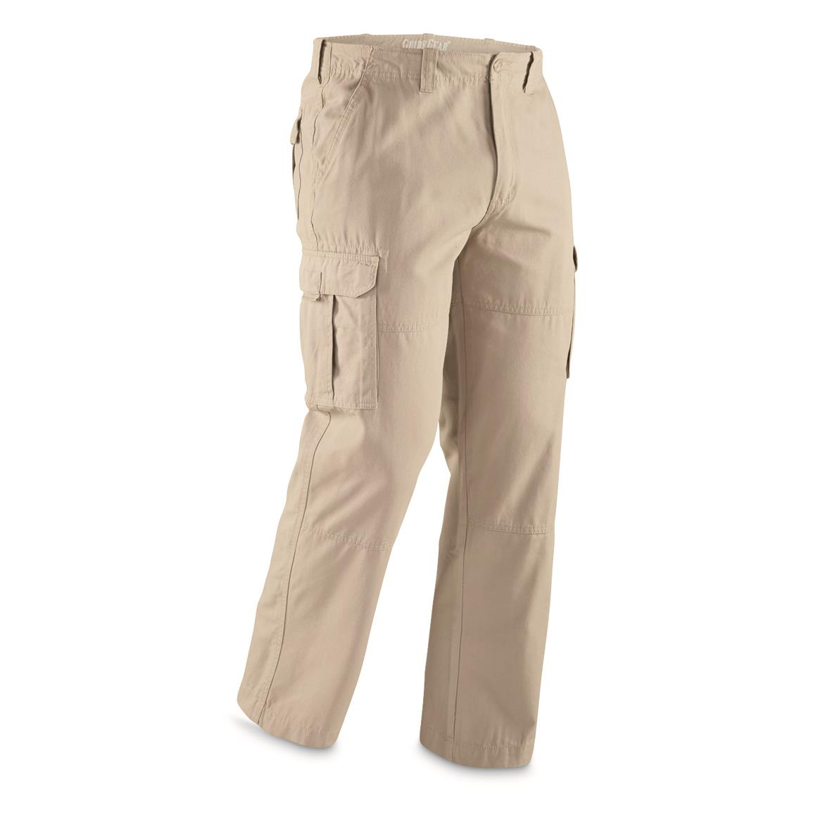 Guide Gear Men's Outdoor Cargo Pants, Khaki