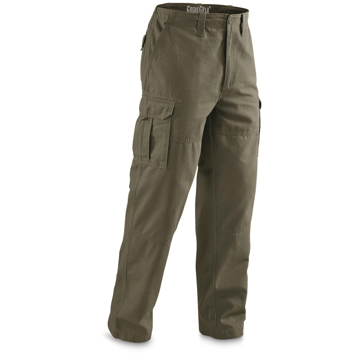Guide Gear Men's Outdoor Cargo Pants, Olive