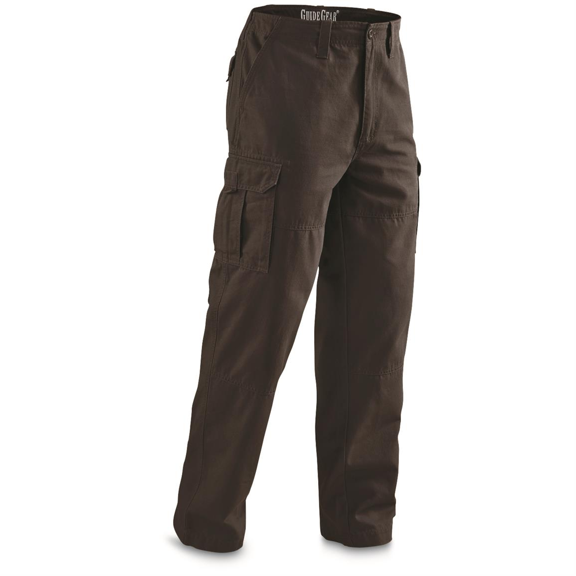 Guide Gear Men's Outdoor Cargo Pants, Brown