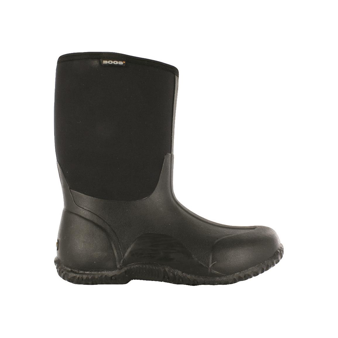 Bogs Men's Classic Mid Rubber Hunting Boots, Black