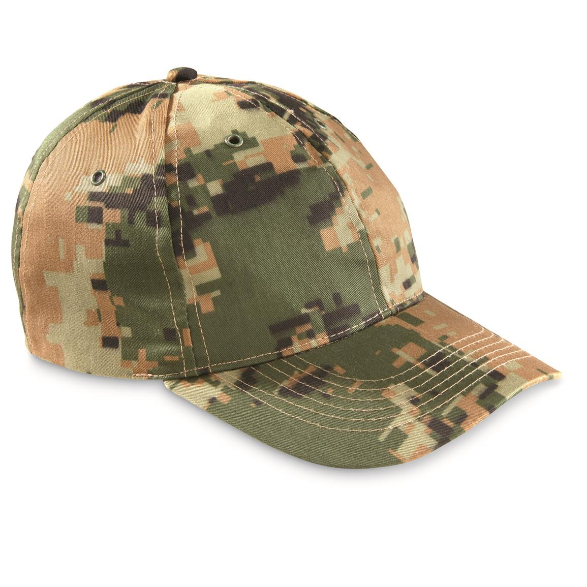 Jordanian Military Surplus Ball Caps, 2 Pack, Woodland Camo