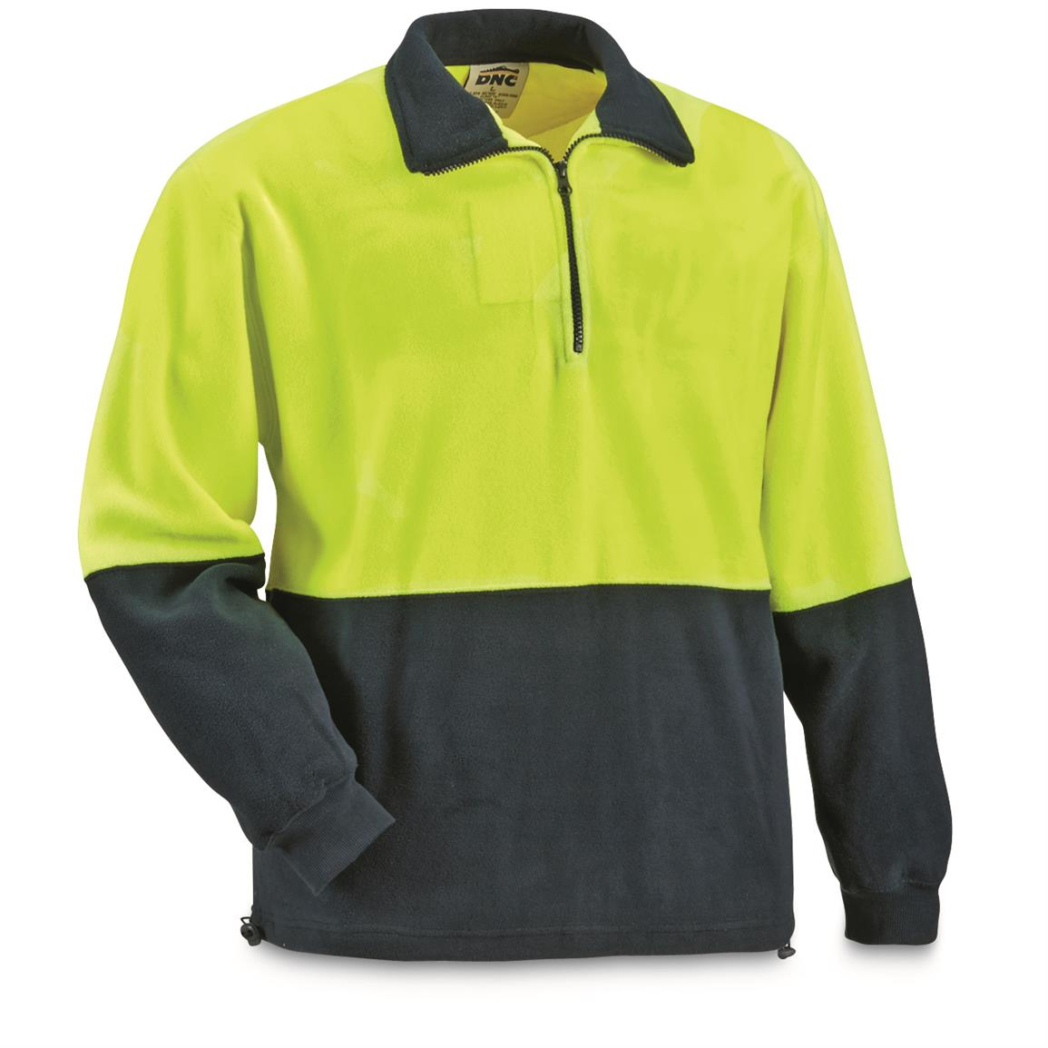 British Municipal Hi Vis Fleece Pullover Jackets, 2 Pack, New