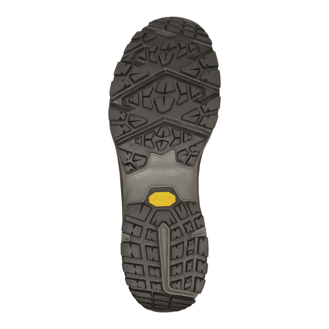 Vibram sticky rubber outsole hangs on like a rock-climbing shoe