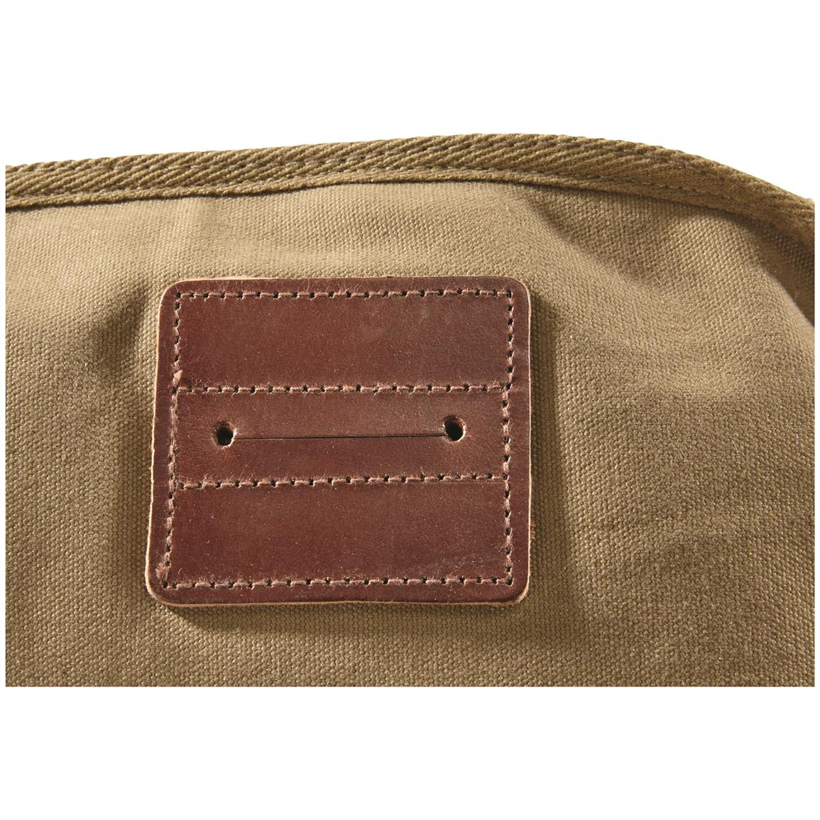 Leather patches with slits in back