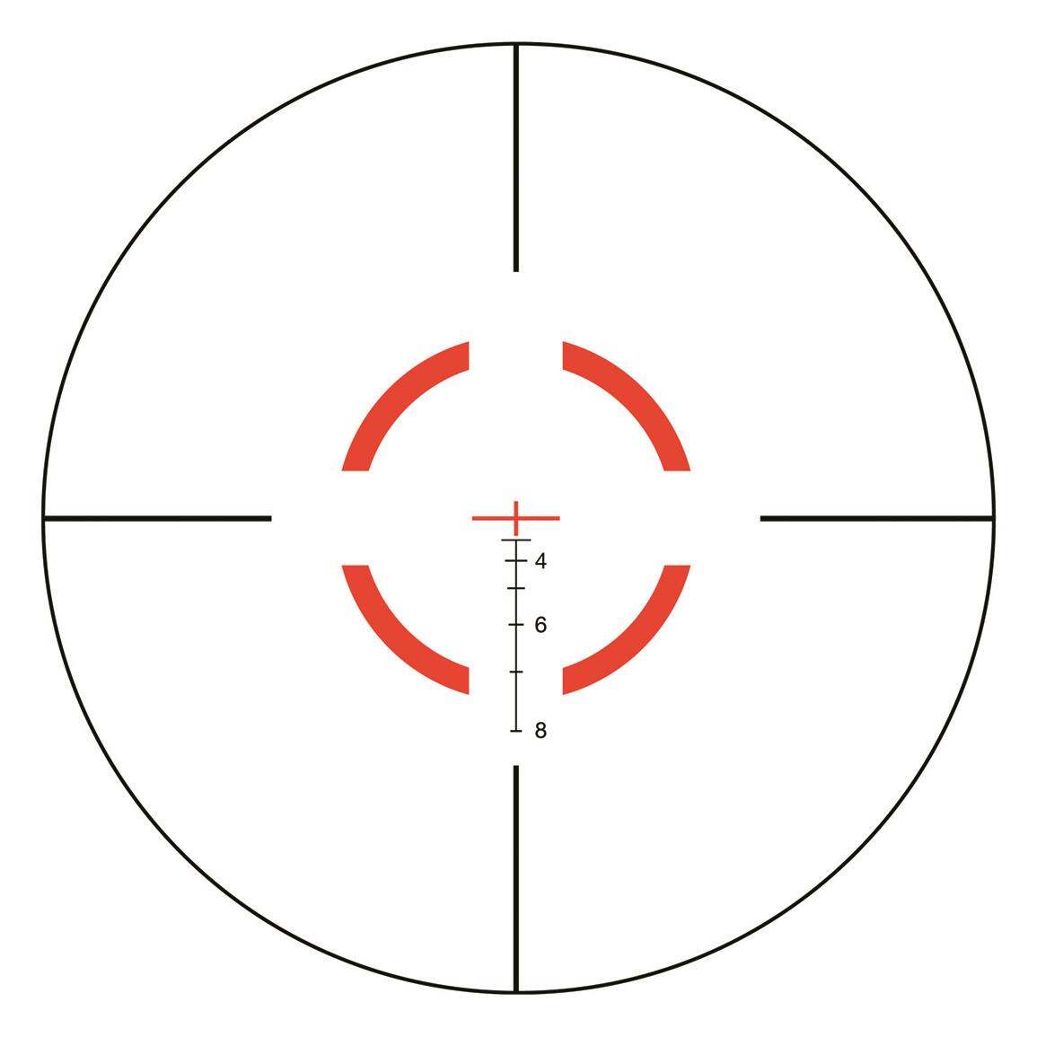 BDC red segmented circle/crosshair