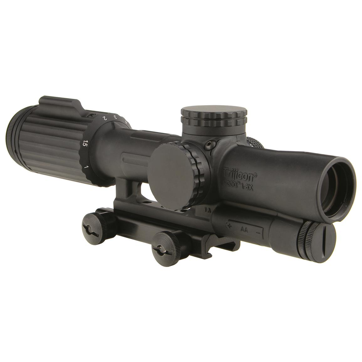 VCOG 1-6x24mm Rifle Scope with Red Segmented Circle / Crosshair, .223 / 55 Grain Ballistic Reticle