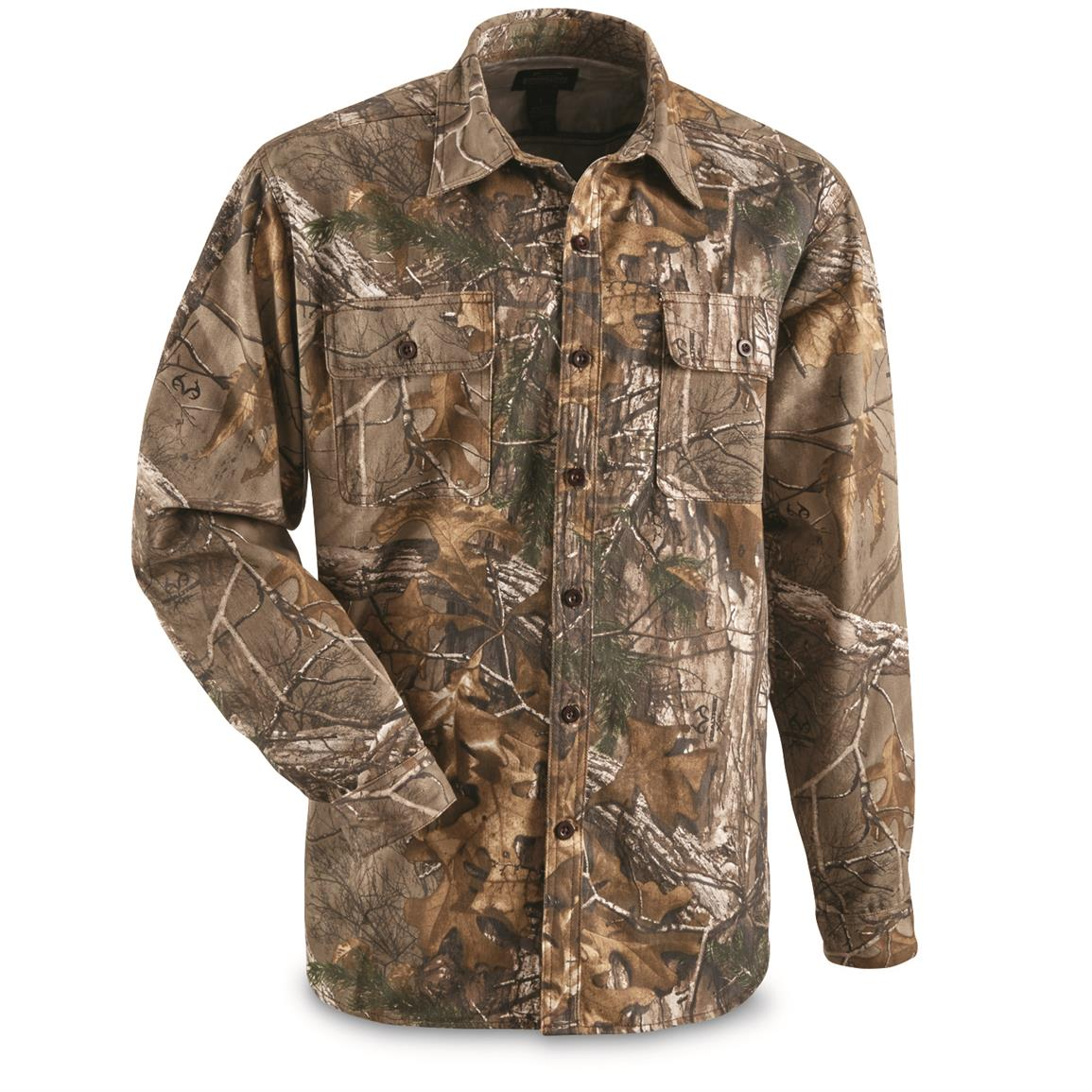 Guide Gear Men's Button-Down Hunting Shirt, Realtree Xtra®