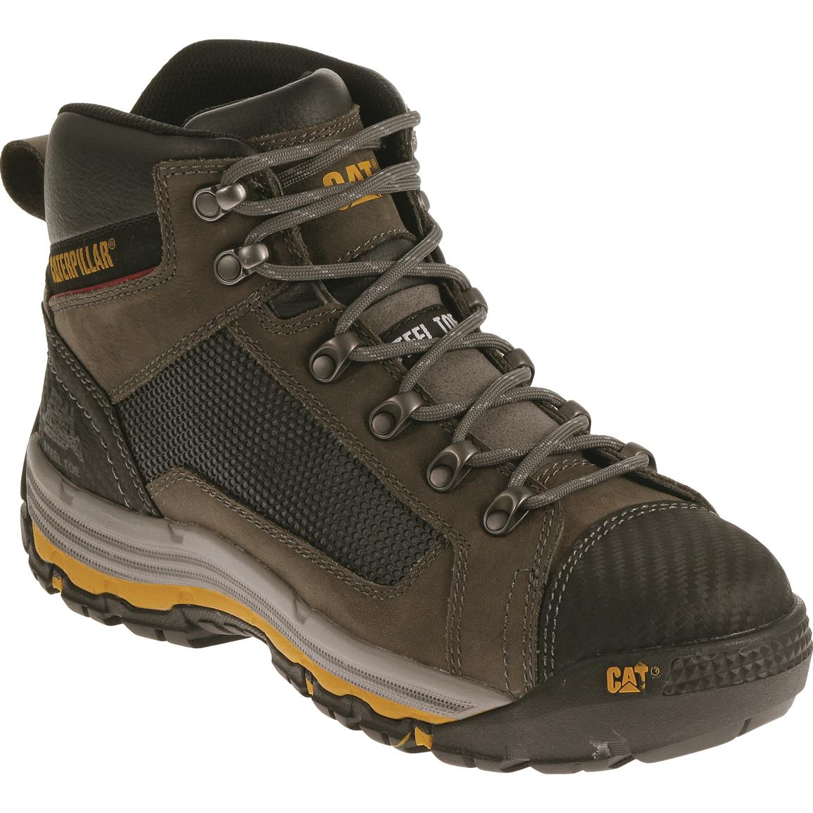 Cat Men's Convex Mid Steel Toe Work Boots, Dark Gull Gray
