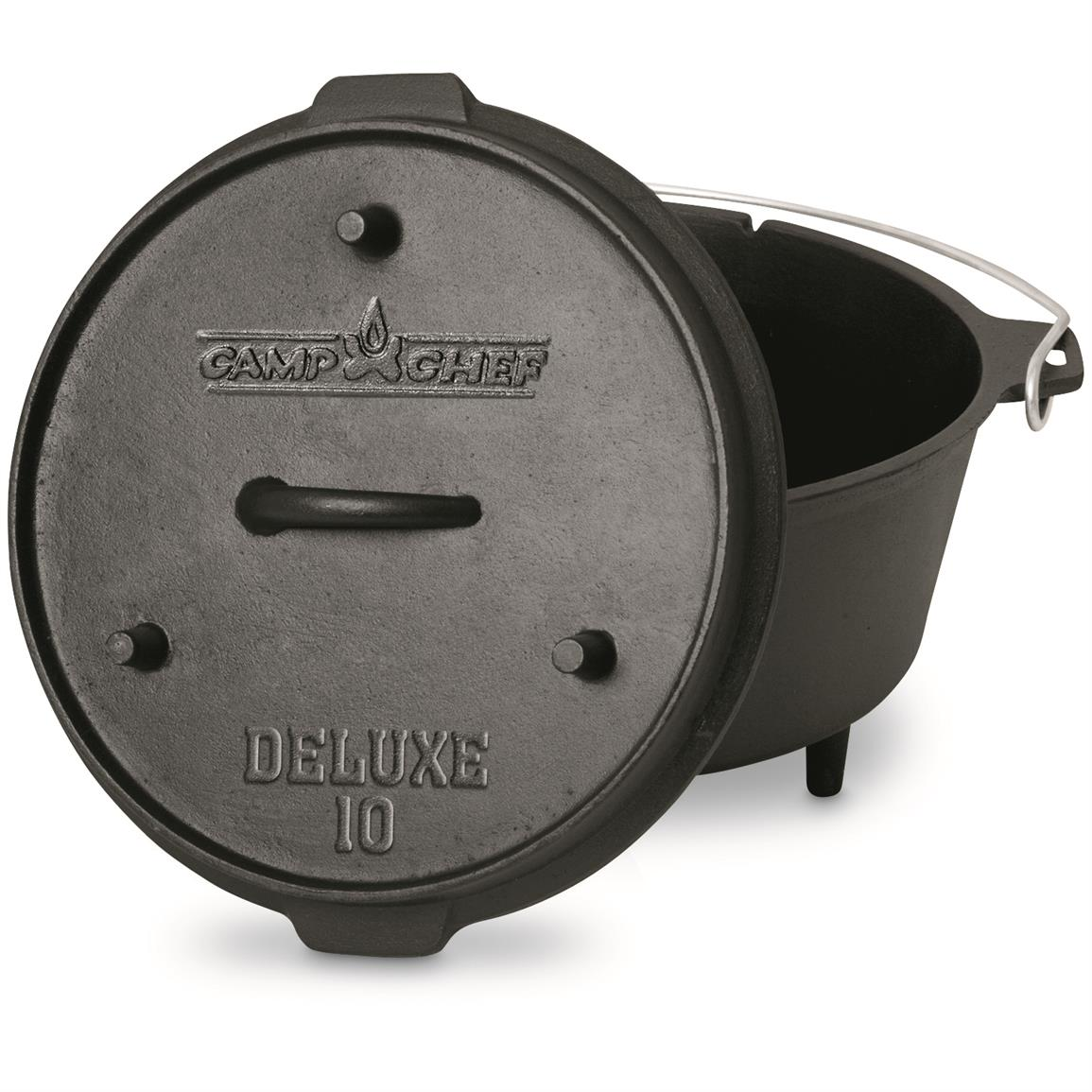 "Camp Chef 10"" 6 Quart Deluxe Cast Iron Dutch Oven"