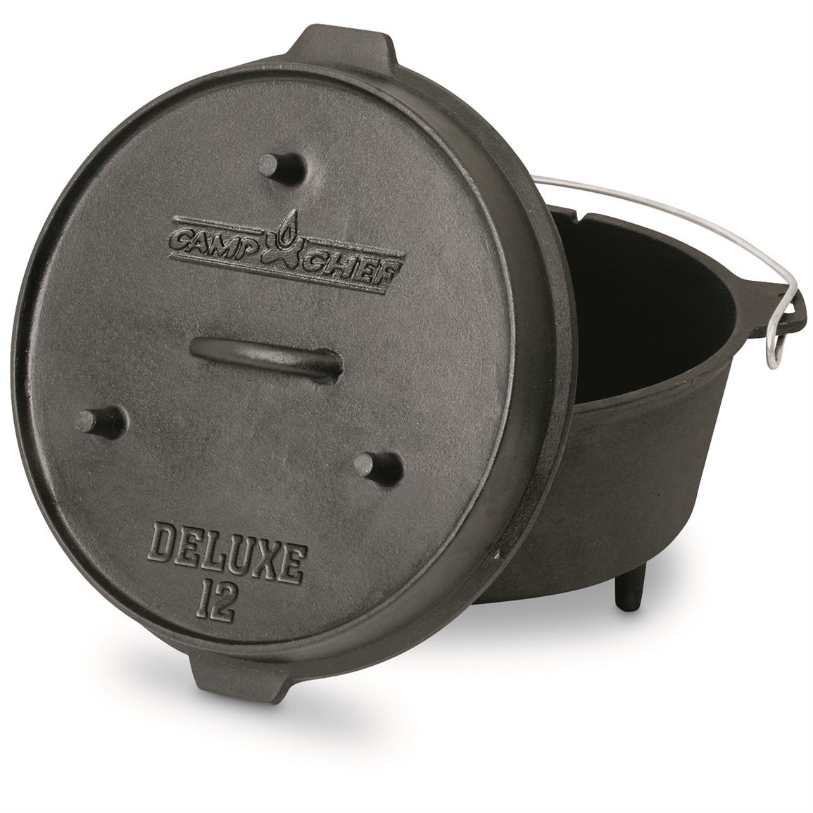 "Camp Chef 12"" 8 Quart Cast Iron Deluxe Deep Dutch Oven"