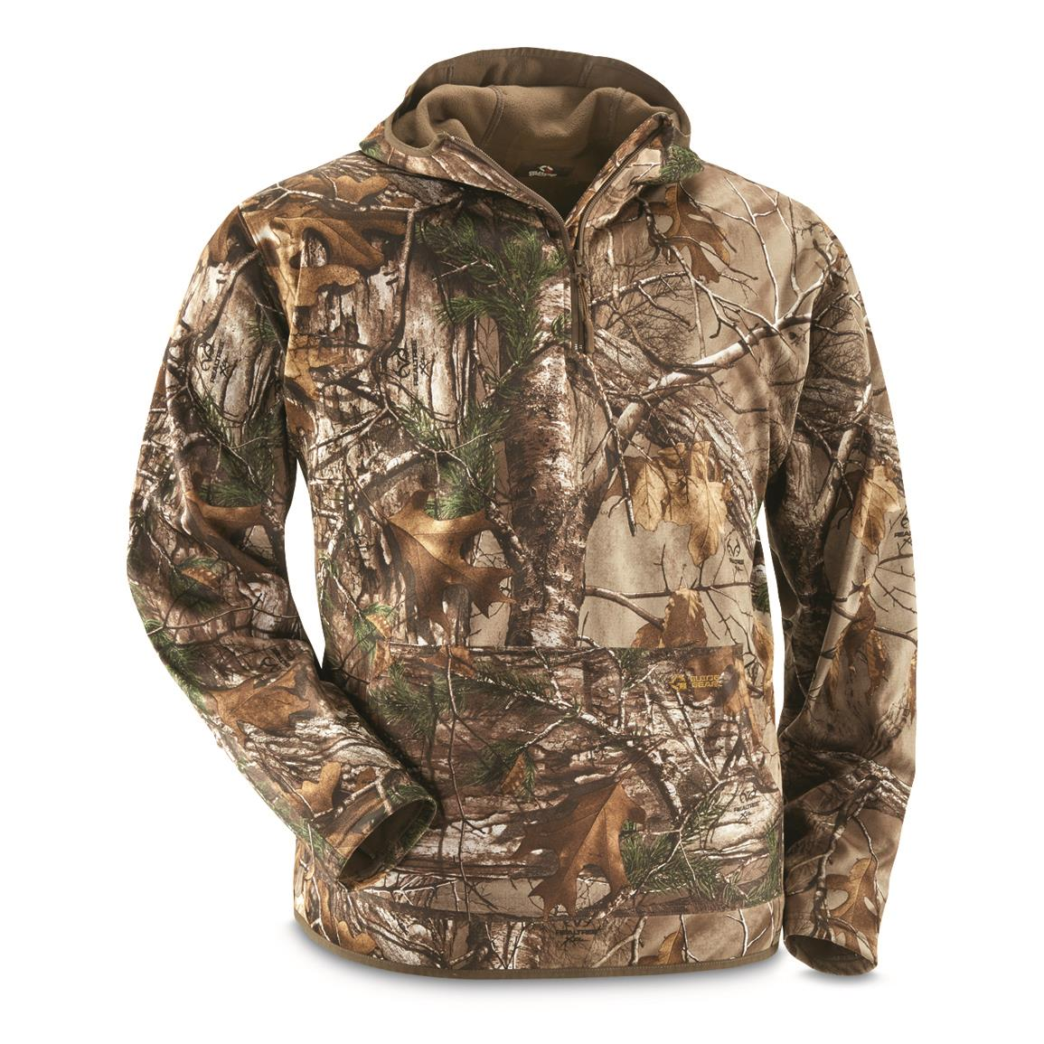 Guide Gear Men's Scent Control Quarter-Zip Hoodie, Realtree Xtra