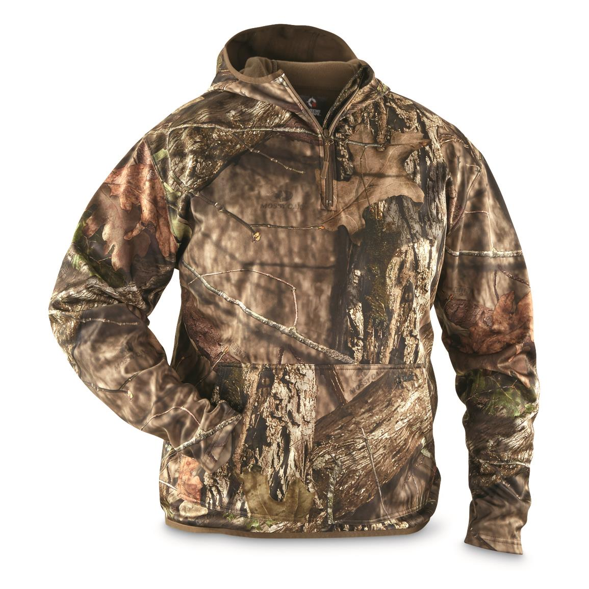 Guide Gear Men's Scent Control Quarter-Zip Hoodie, Mossy Oak Break-Up Country