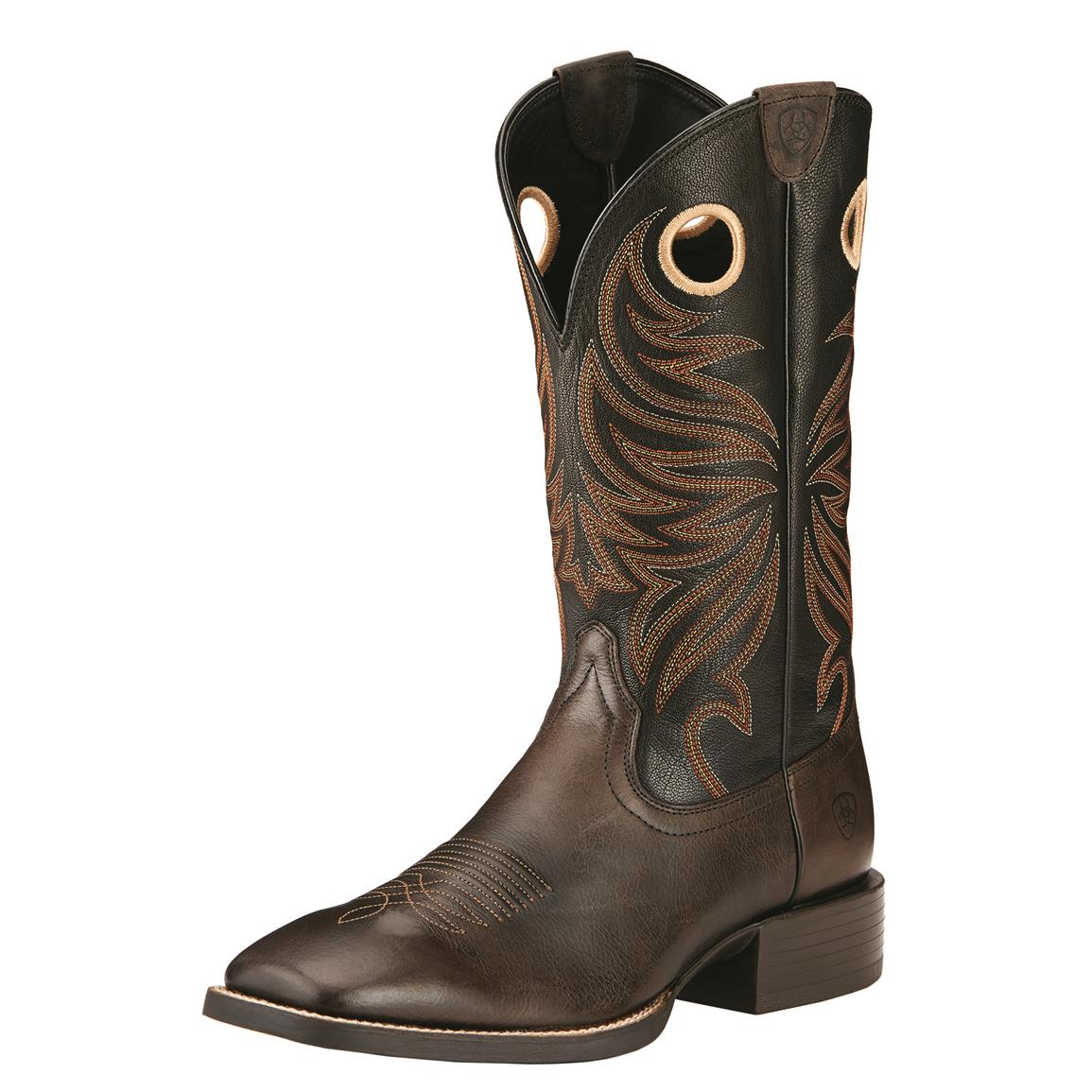 Ariat Men's Sport Rider Western Boots, Chocolate/Black