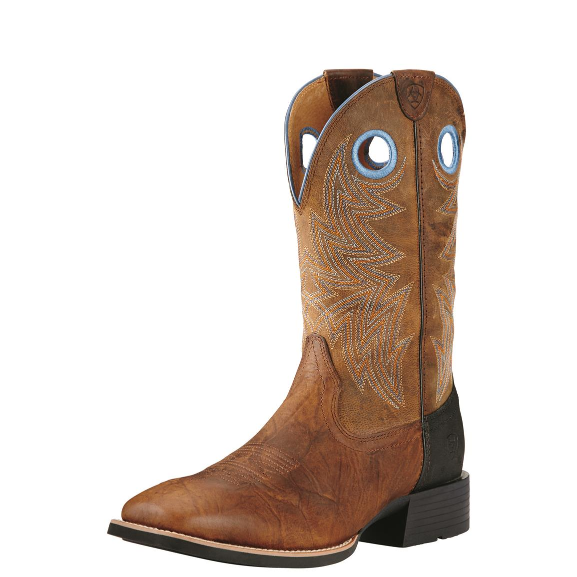 Ariat Men's Heritage Cowhorse Western Boots, Brown/Woodsmoke