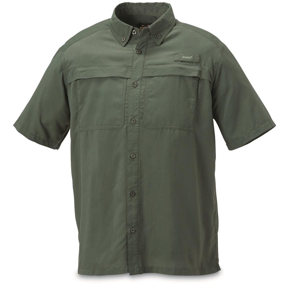 Guide Gear Men's Traverse Short Sleeve Shirt, Pine Green