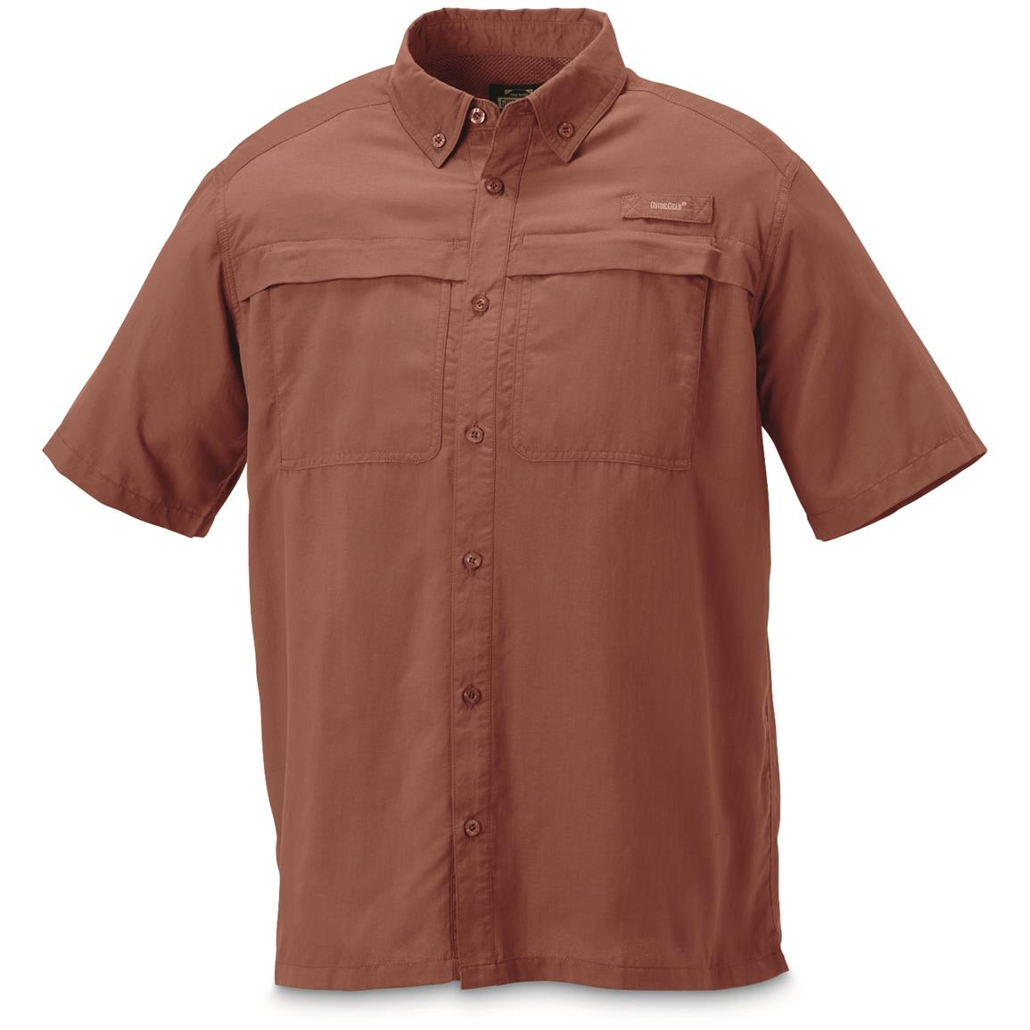 Guide Gear Men's Traverse Short Sleeve Shirt, Rust
