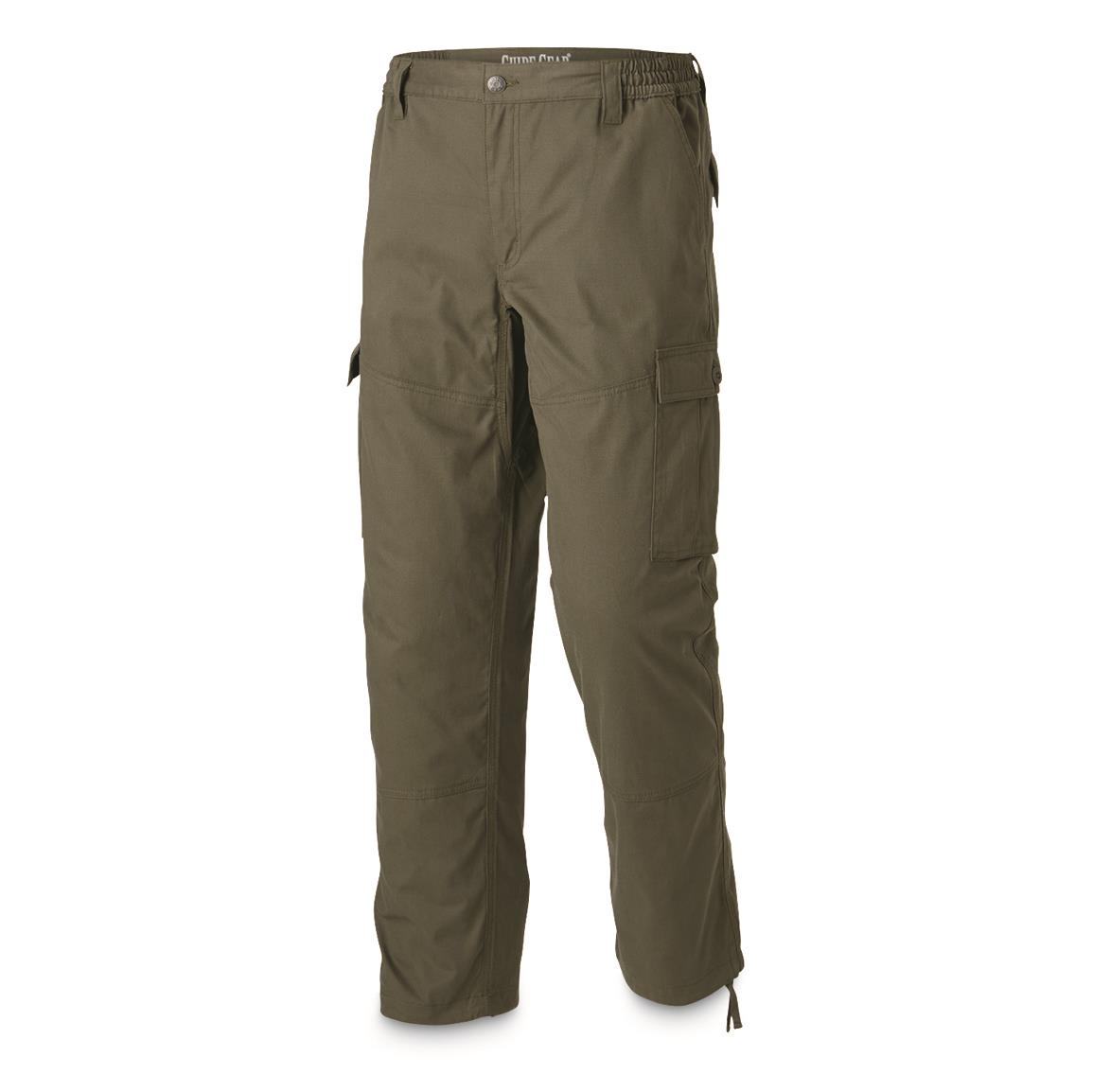 Guide Gear Men's 6-Pocket Duck Cargo Pants, Olive