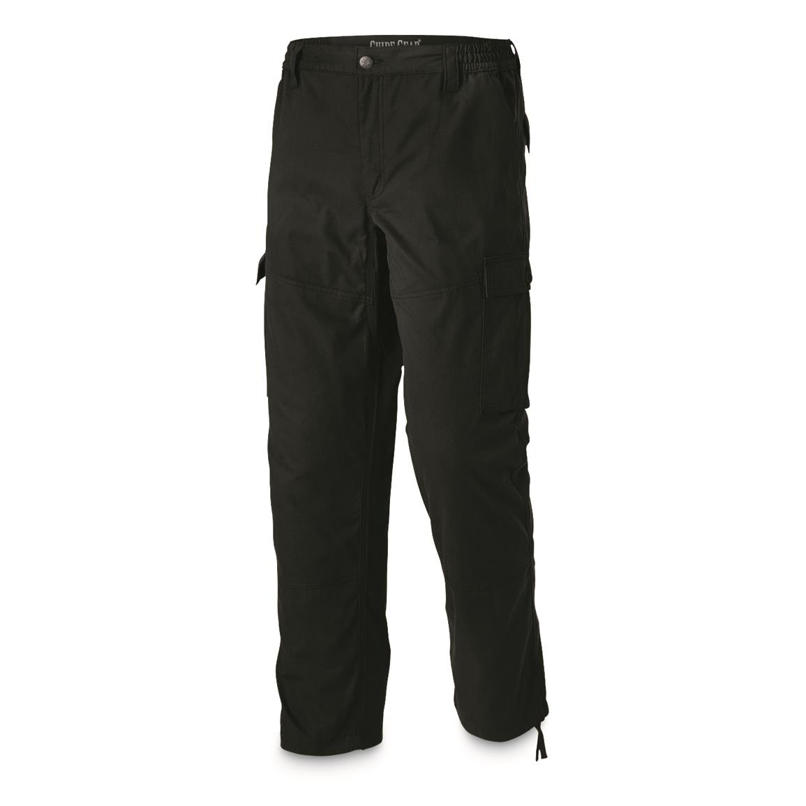 Guide Gear Men's 6-Pocket Duck Cargo Pants, Black