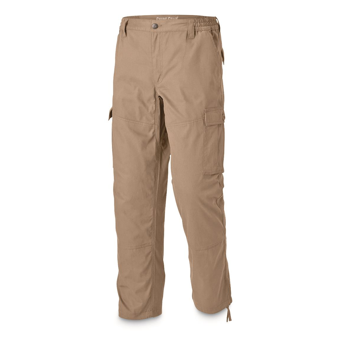 Guide Gear Men's 6-Pocket Duck Cargo Pants, Tan