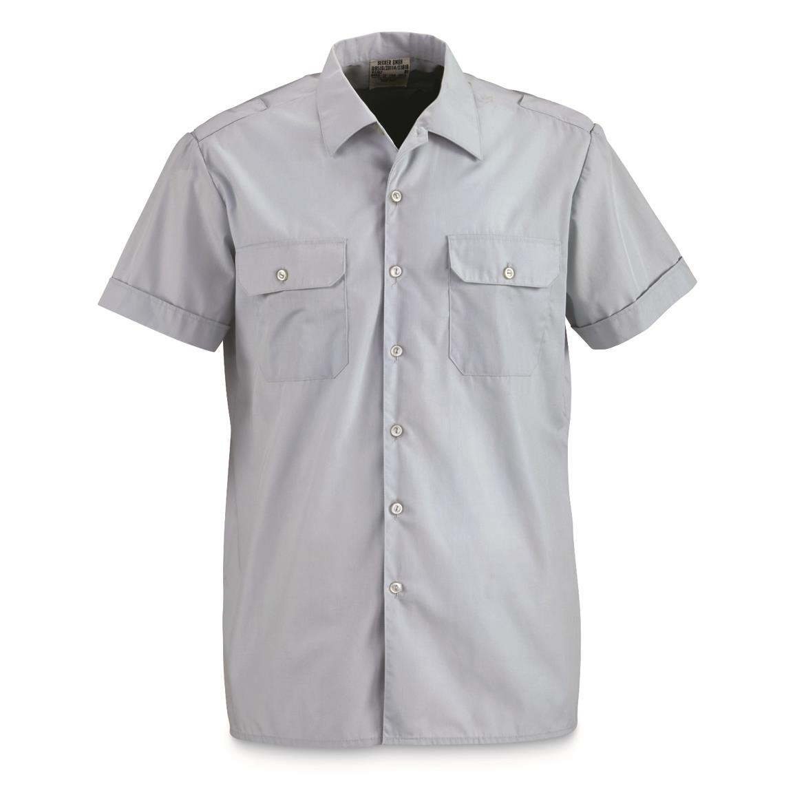 German Military Surplus Short Sleeved Service Shirts