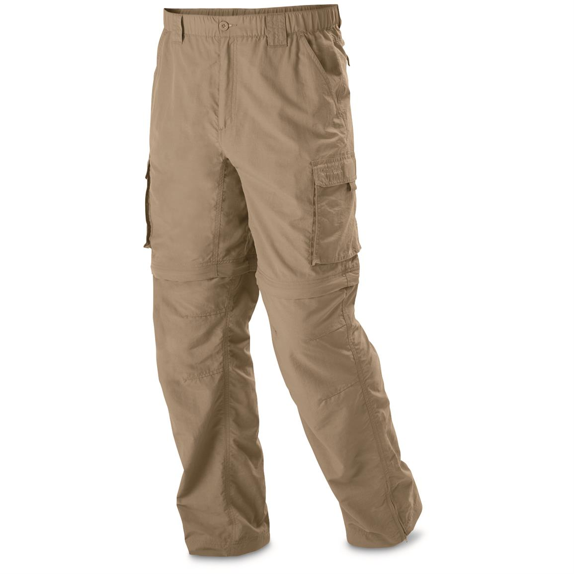 Guide Gear Men's Zip Off River Pants, Khaki