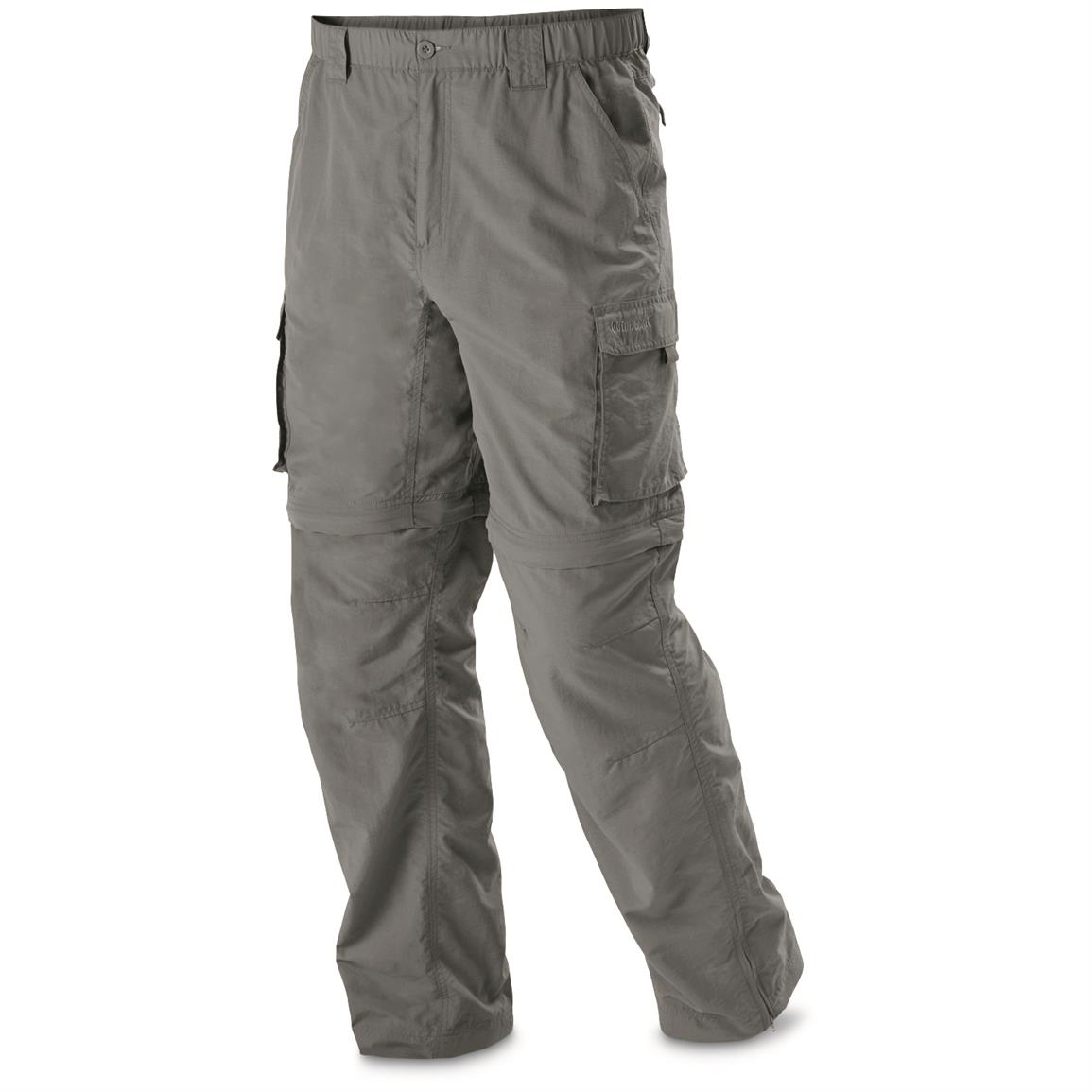 Guide Gear Men's Zip Off River Pants, Graphite Gray