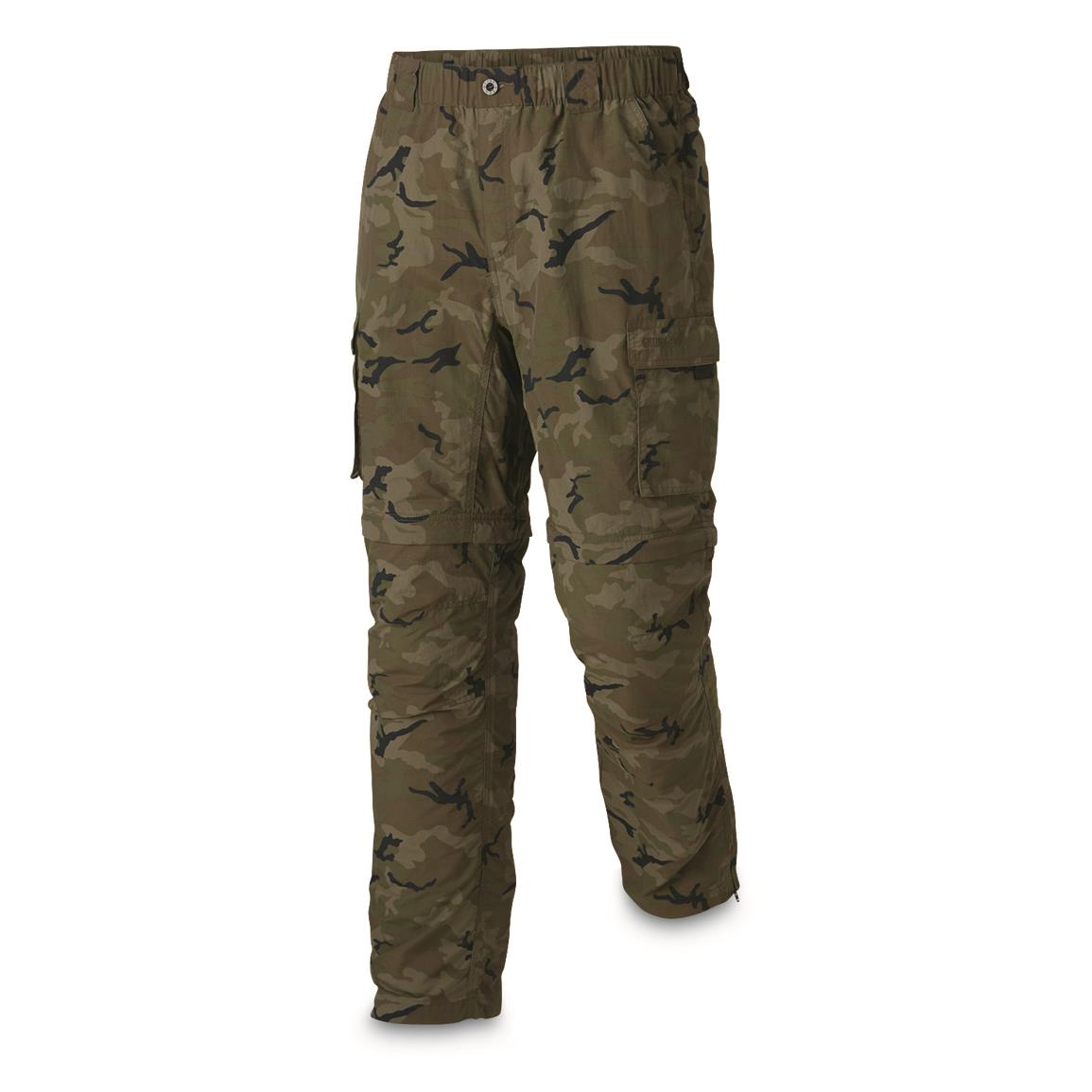 Guide Gear Men's Zip Off River Pants, Camo
