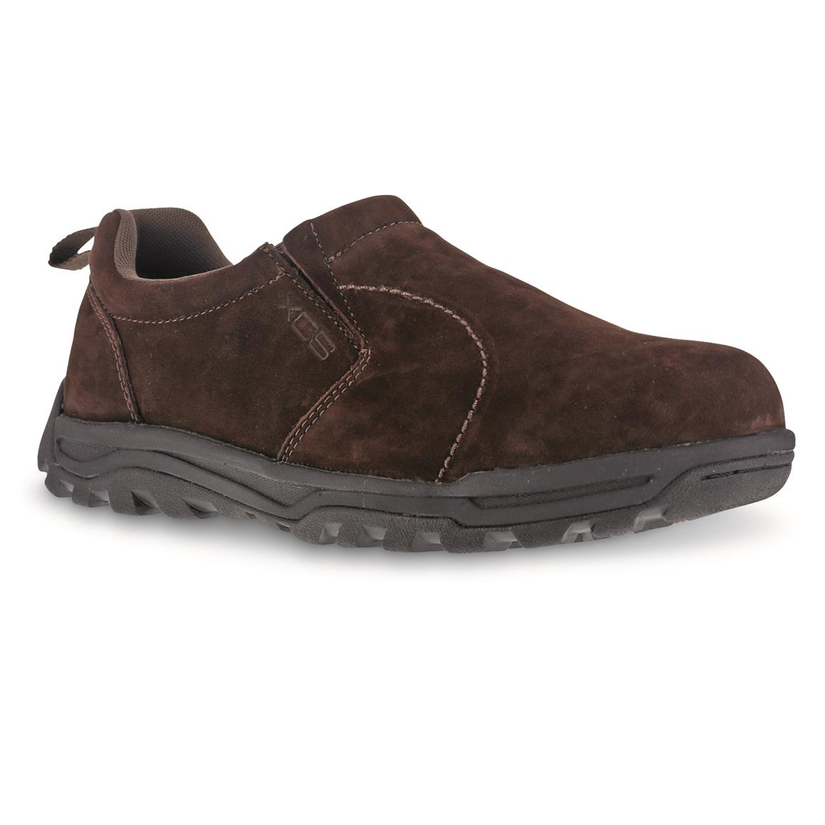 Rockport Works Men's Trail Technique Slip On Trail Jungle Mocs, Brown