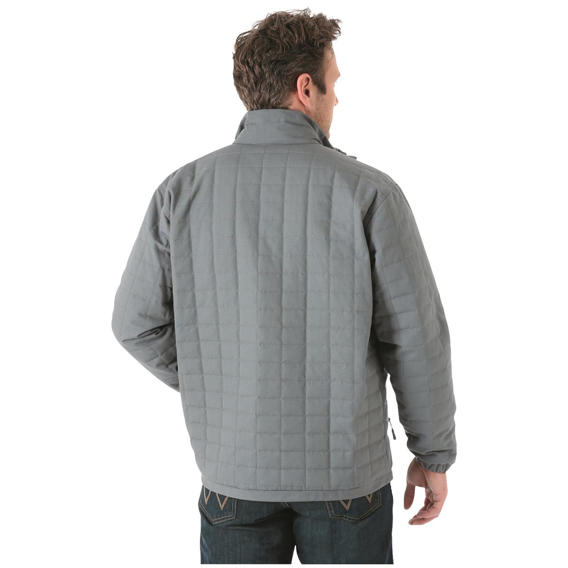 Wrangler Men's Chore Jacket, Rear View