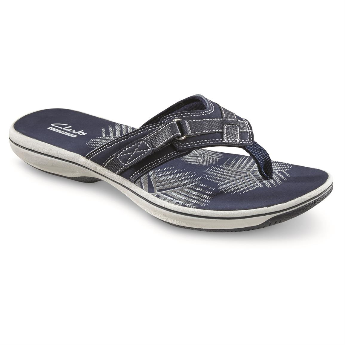 Clarks Women's Breeze Sea Sandals, Navy