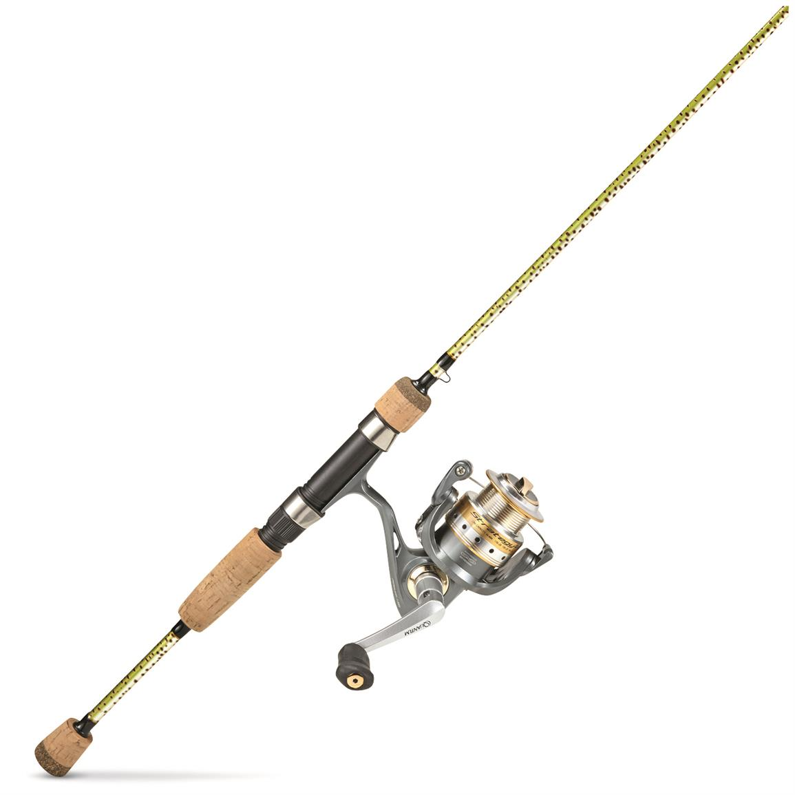 "Eagle Claw Fish Skins and Quantum STRATEGY 6'6"" Spinning Rod and Reel Combo"
