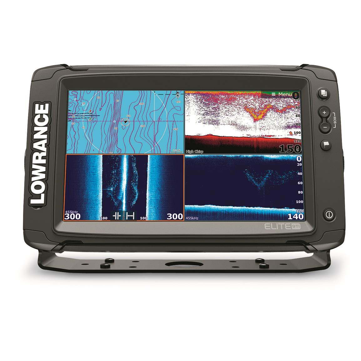 Lowrance ELITE-9 Ti Sonar Fish Finder with Med/High and TotalScan Transducer