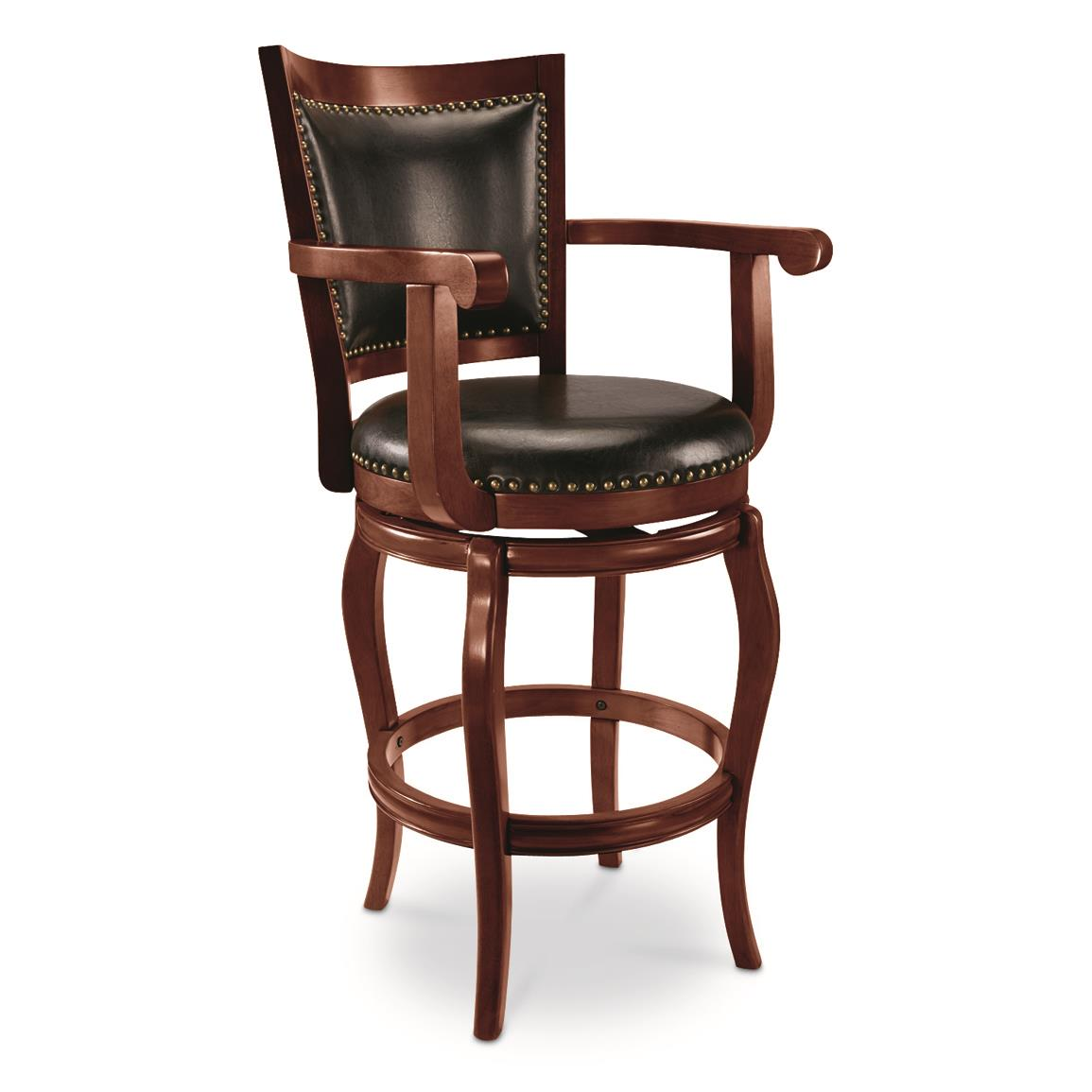 CASTLECREEK Oversized Chase Bar Stool, Espresso