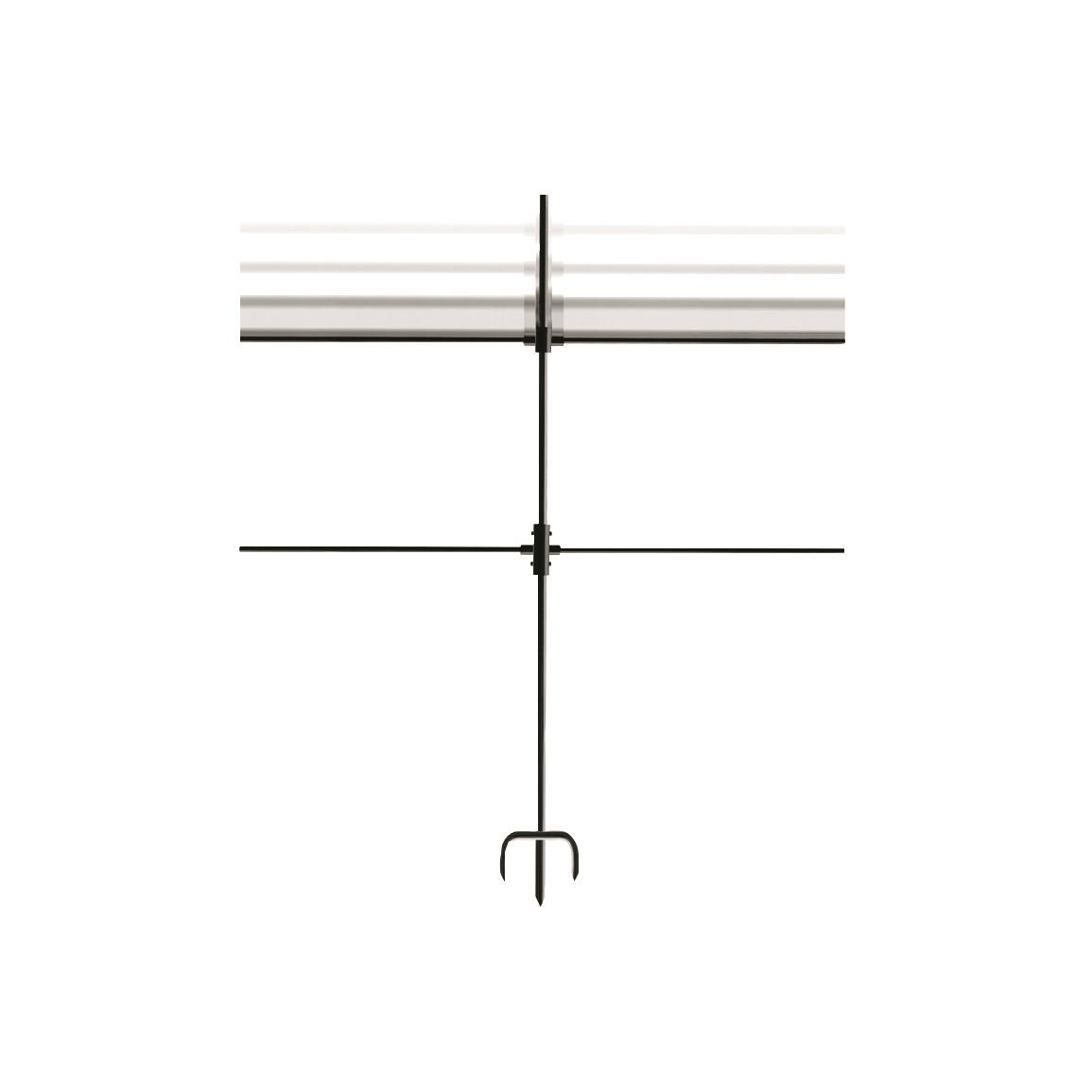 Top crossbar is height-adjustable to hold different target sizes
