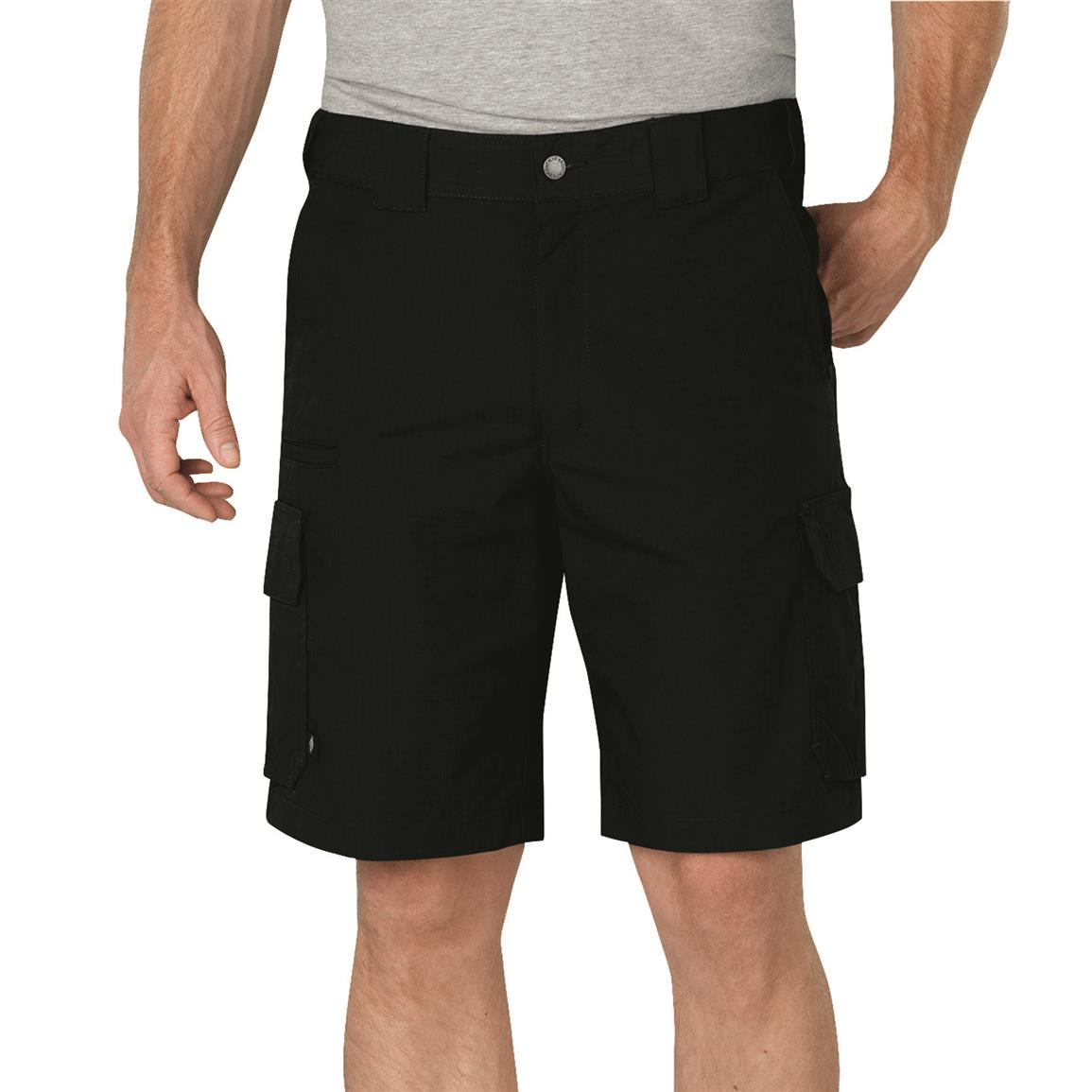 "Dickies Men's 10"" Stretch Ripstop Tactical Shorts, Black"