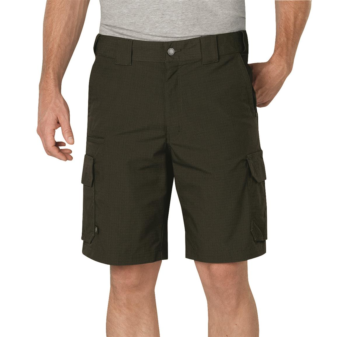 "Dickies Men's 10"" Stretch Ripstop Tactical Shorts, Tactical Green; 10"" inseam"