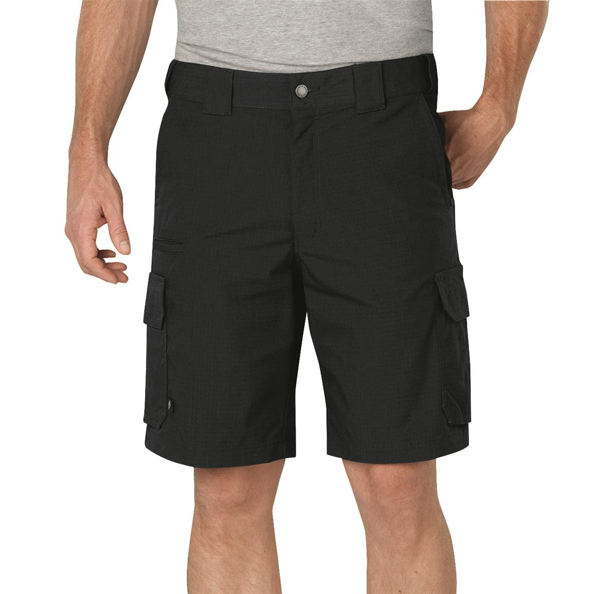 "Dickies Men's 10"" Stretch Ripstop Tactical Shorts, Midnight"