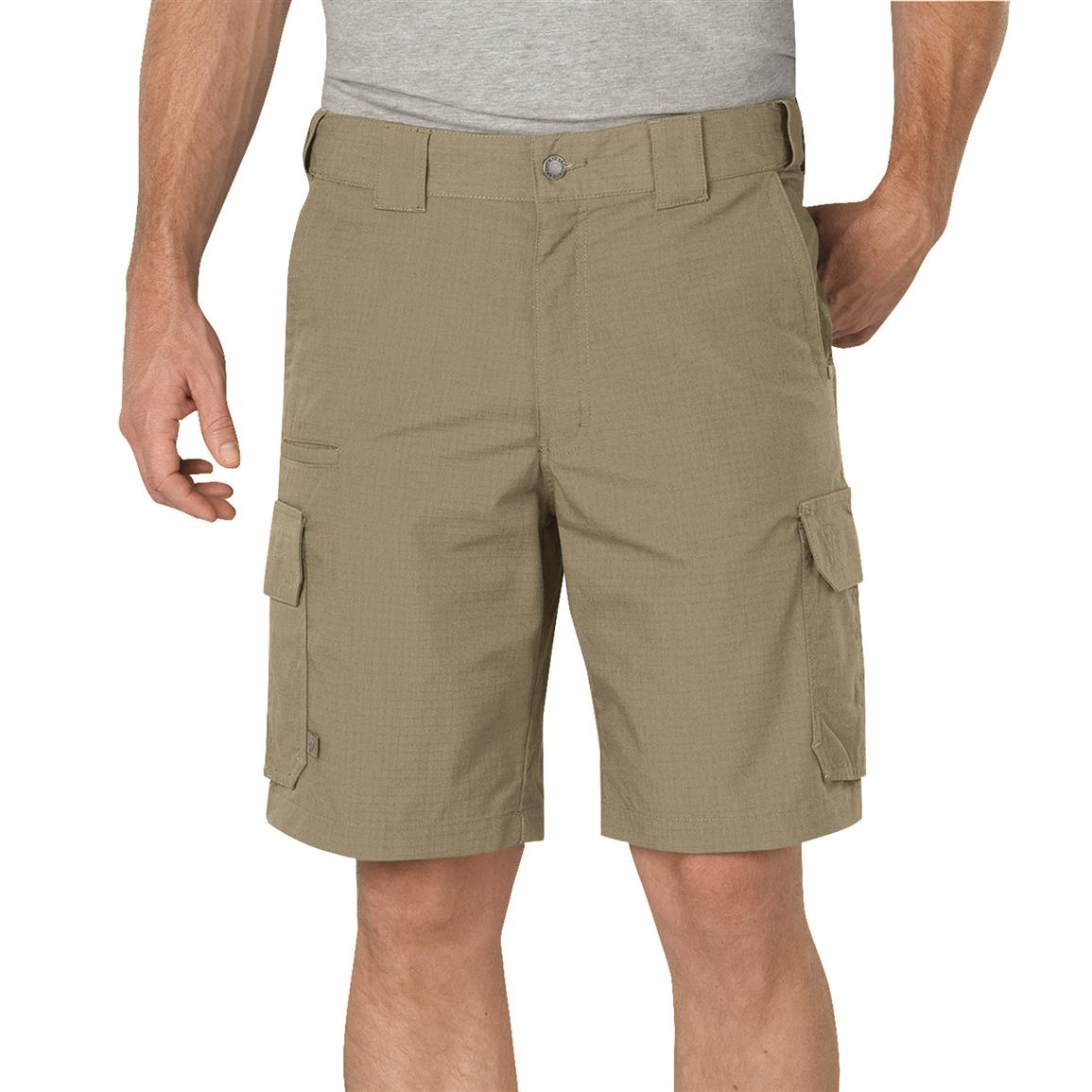 "Dickies Men's 10"" Stretch Ripstop Tactical Shorts, Desert Sand"