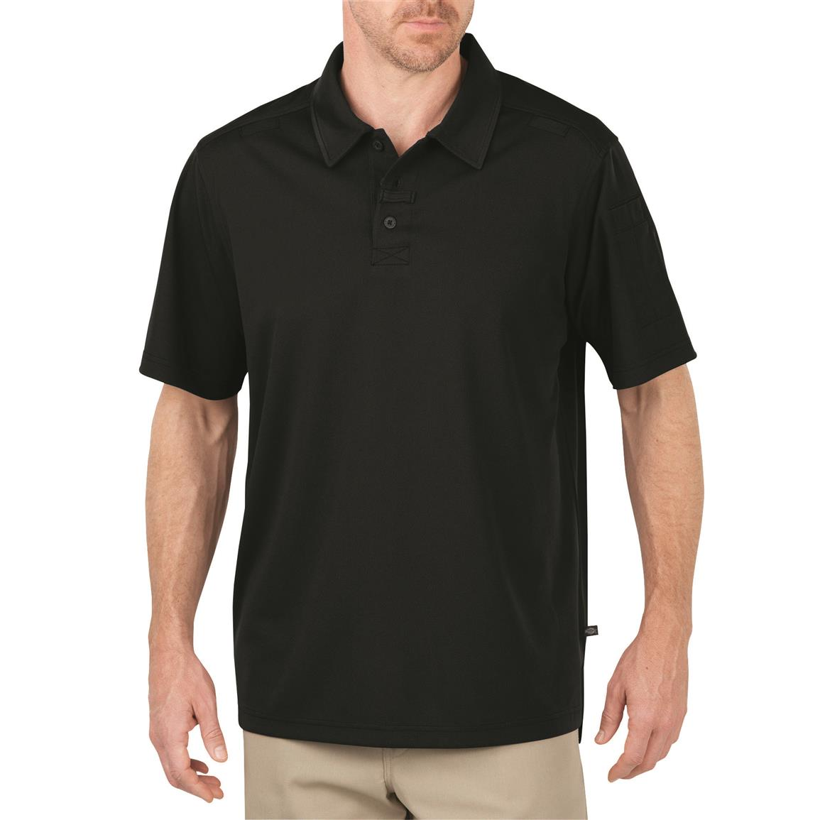 Dickies Men's Tactical Performance Polo Shirt, Black