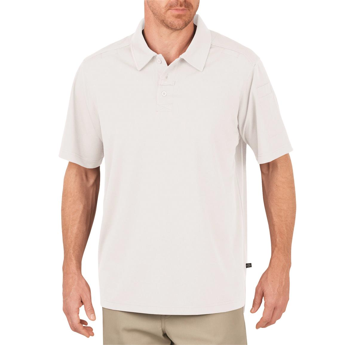 Dickies Men's Tactical Performance Polo Shirt, White