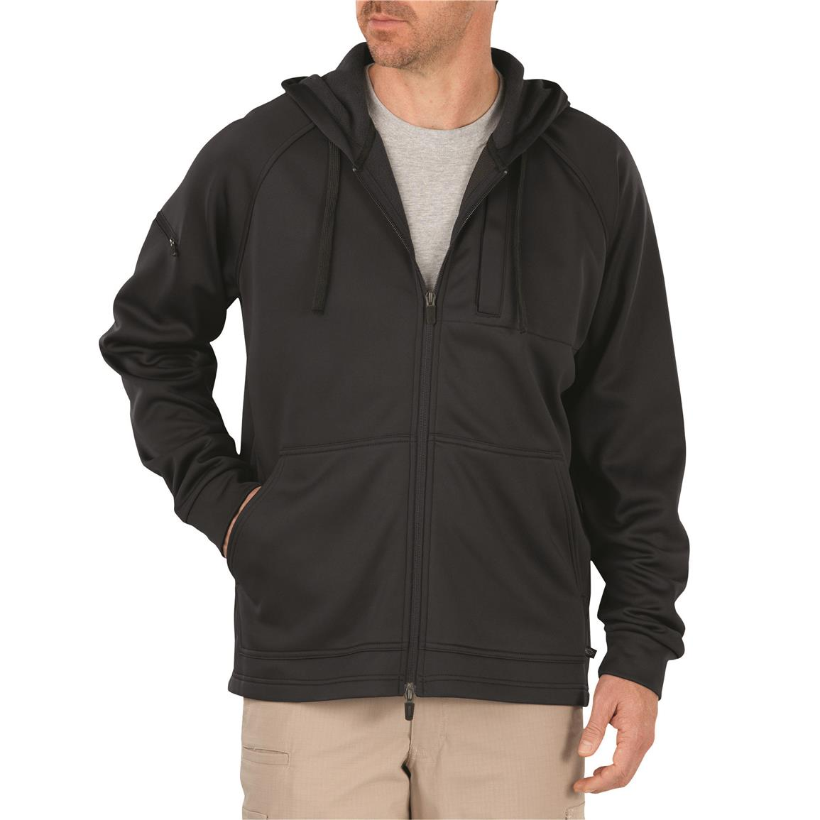 Dickies Men's Tactical Full Zip Performance Fleece Hoodie, Midnight